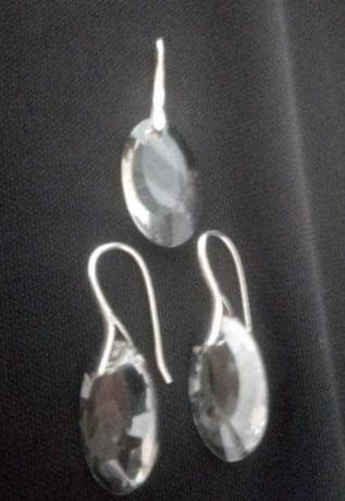 Komplet biżuterii srebro i szkło .