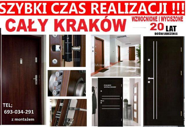 CIEPŁE drzwi zewnętrzne-WEJŚCIOWE ,montaż GRATIS, Cały Kraków. Tanio