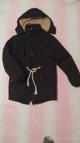 Зимняя куртка парка на подростка мальчика