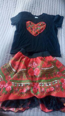 Komplet spodniczka i koszulka