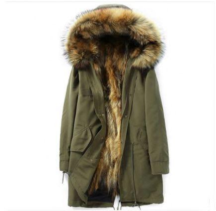 Парка куртка шуба с натуральным мехом Xl/L