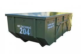 Kontenery na gruz śmieci odpady