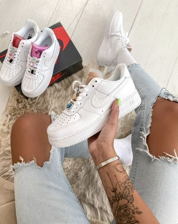 Buty Air Force 1 LX White Lace Beige