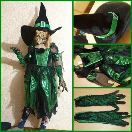 Карнавальный костюм Ведьмочка 5-7 л на хэллоуин карнавальний хелловін