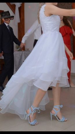 Suknia ślubna asymetryczna 34 - 38
