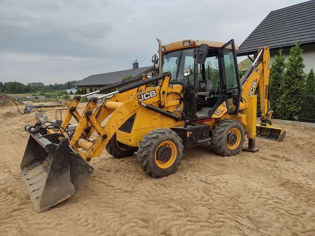 Prace ziemne usługi koparko-ładowarka przygotowanie terenu pod budowe