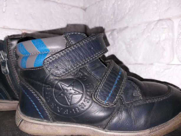 Демисезонные кожаные ботинки для мальчика