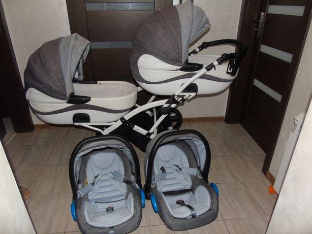 Wózek Bliźniaczy Moonlight Żakard Duo firmy Tako