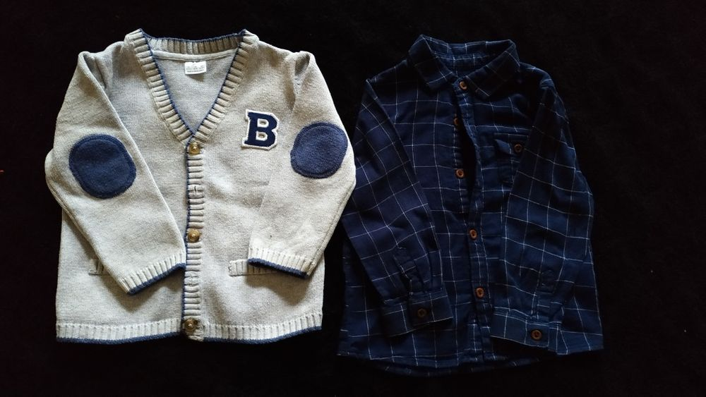 Комплект рубашка Zara и кофта F&F Каменское - изображение 1