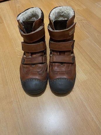 Buty skórzane na zimę Antylopa, ocieplane