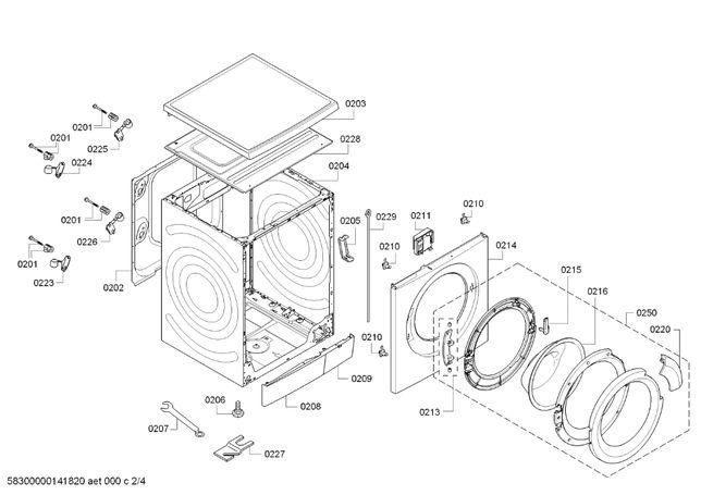 Vendo Peças Máquina Lavar Roupa Bosch - WAS24461EE/08 (LOGIXX 8)