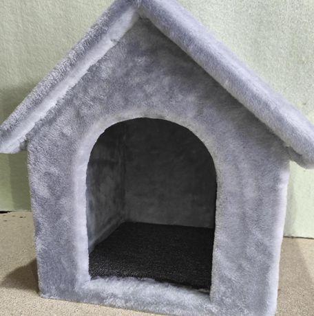 Лежанка будка из меха для собаки . Ручная работа. Nastya-668