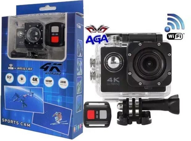 Kamera Sportowa 4K ULTRA HD WiFi + Pilot + Akcesoria