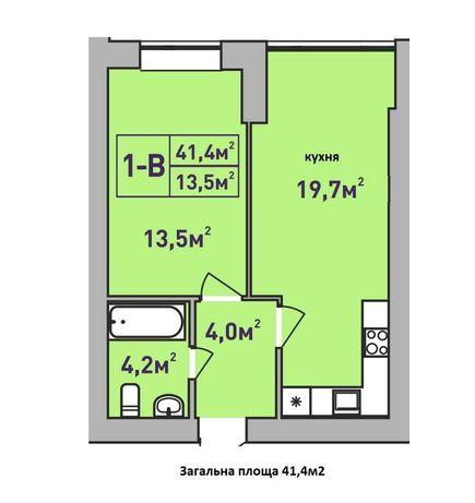 Продам однокомнатную квартиру в лучшем ЖК Ирпеня в центре города