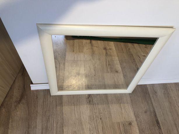 Lustro IKEA Riska białe kwadratowe 70x70 cm