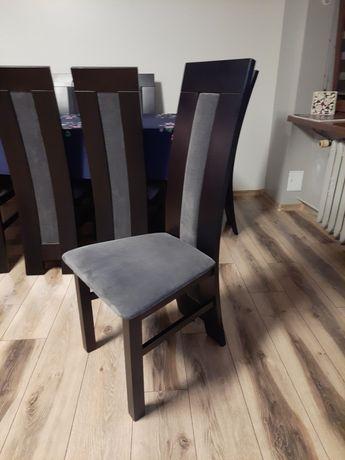 Krzesła Drewniane Tapicerowane 8 Sztuk. BARDZO DOBRY STAN