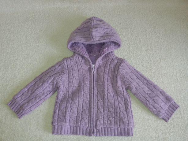 Gruby ciepły sweter/kurtka cherokee 9-12m/80