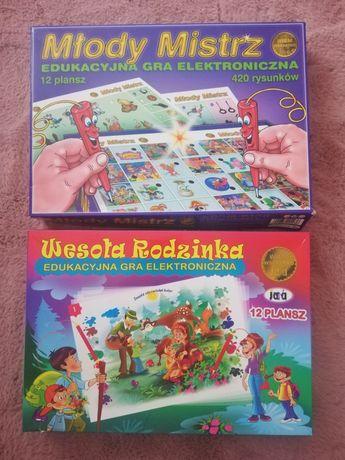 edukacyjna gra elektroniczna 2szt wesoła rodzinka i młody mistrz