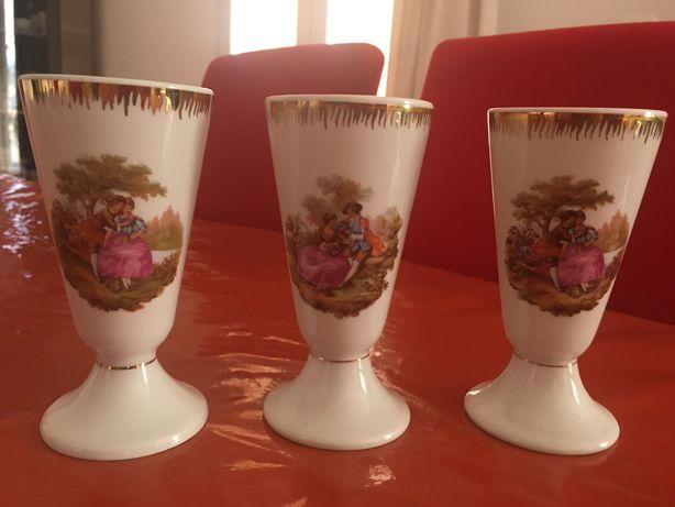 Три винтажные чашки Limoges,  Лимож Франция Фрагонарда