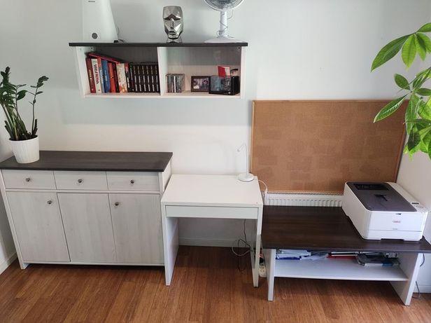 Komplet mebli komoda biurko półka stolik