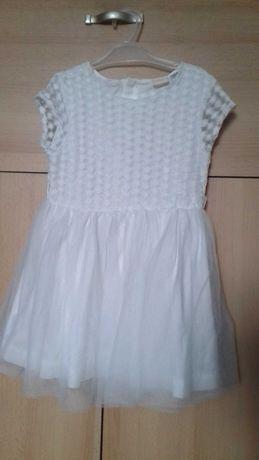 Biała sukienka r. 110