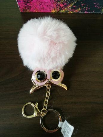 Brelok do torebki lub kluczy sowa
