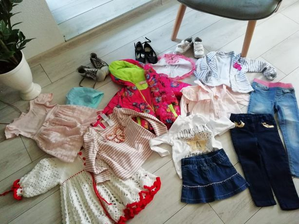 Paka ubrania dla dziewczynki od 1.5 wzwyż