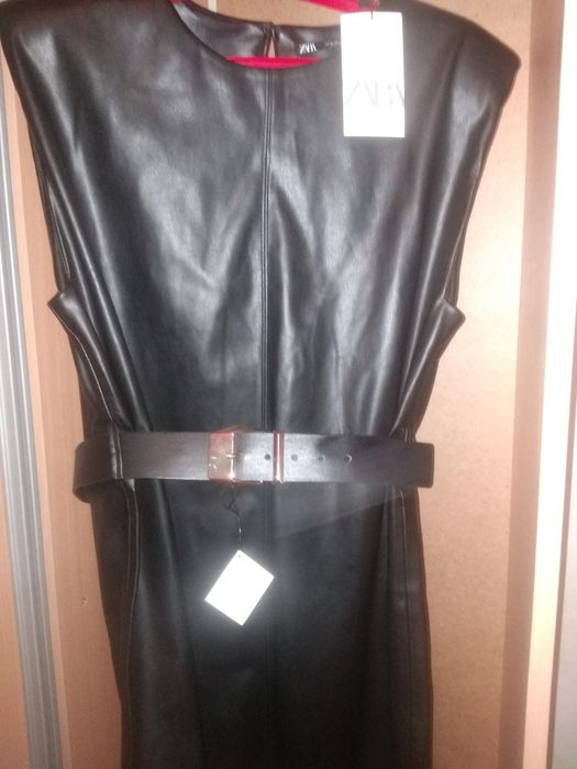 Платье Zara из эко кожы Дружковка - изображение 1