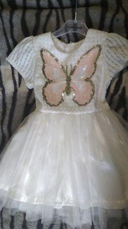 Платье нарядное бабочка костюм на 4-5 лет