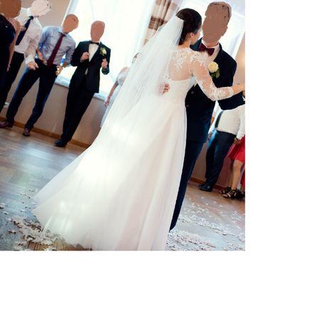 Suknia ślubna, koło i welon
