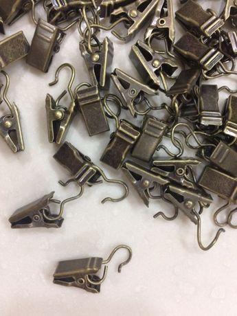 Зажимы-жабки металлические на карниз портьеры гардины