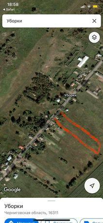 Земельный участок в селе Уборки