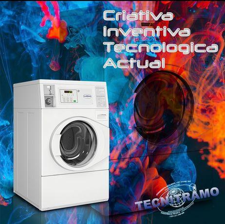 Máquina de lavandaria residencial centro social