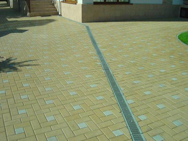 Укладка тротуарной плитки, Тротуарная плитка, Бордюры, ФЕМ