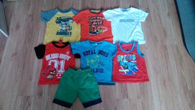Mega paka (bluzki na lato) chłopięce 98-104