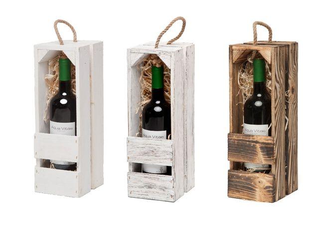 skrzynka drewniana na wino alkohol podziękowania wesele ślub prezent