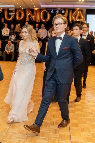 Sukienka studniowkowa weselna projektant S M wymiar