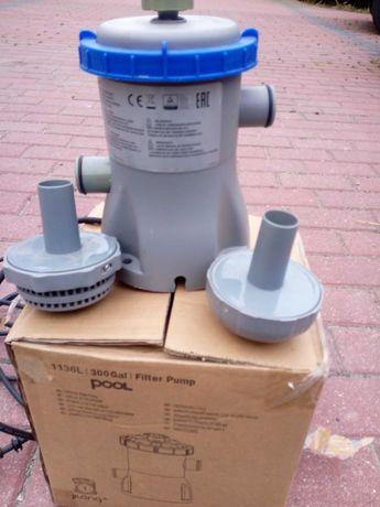 Pompa do filtrowania wody w basenie.