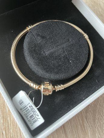Nowa bransoletka pandora 18 złota