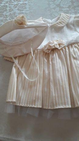 Sukienka dziewczęca kremowa rozm 68