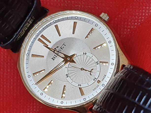Zegarek Męski Bisset City Tour Złoty BSCC70 Kwarcowy od lombAArd