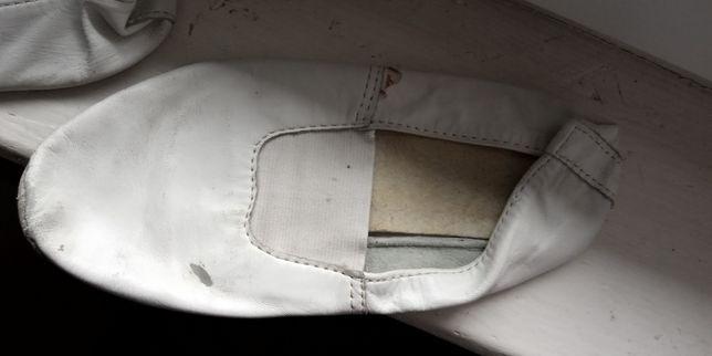 Чешки белые кожаные 22 см по стельке