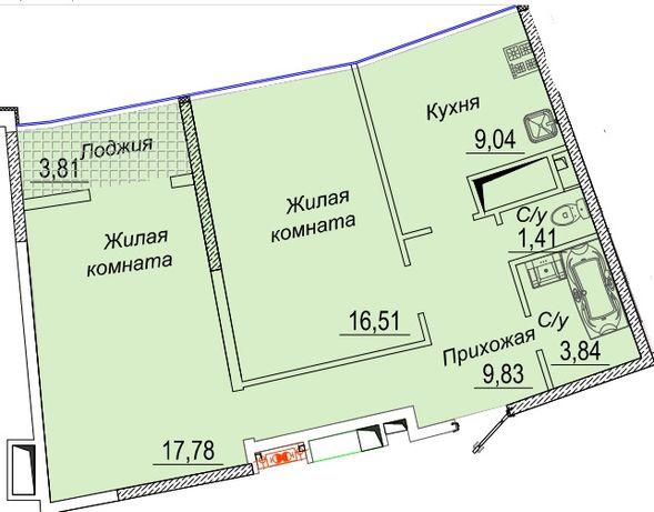 2-х комнатная квартира в ЖК 32 Жемчужине на Каманина, Аркадия!