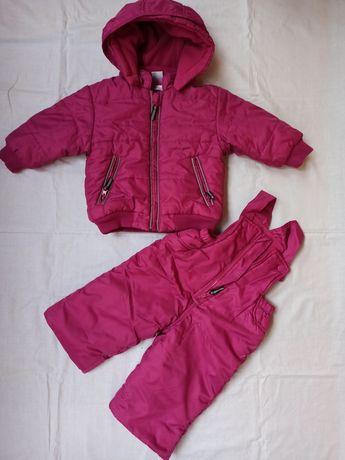Комбинезон зимний, куртка для девочки Bonprix 74р.
