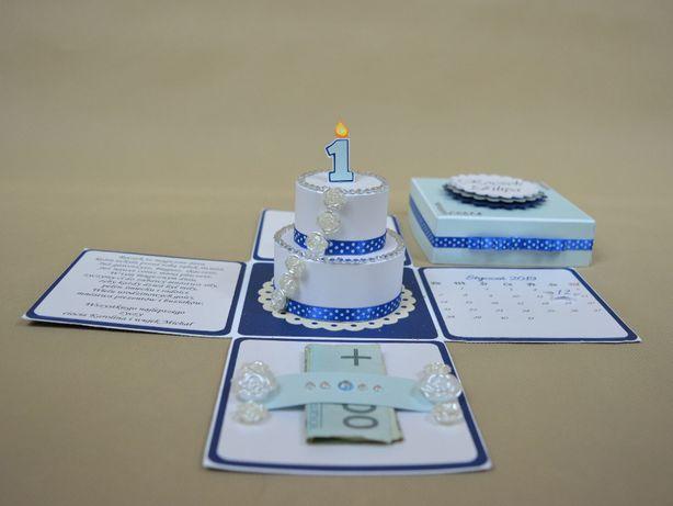 Prezent na roczek Exploding box na urodziny. Pudełko, pamiątka