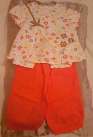 Vários conjuntos de menina com calções/calças/saia