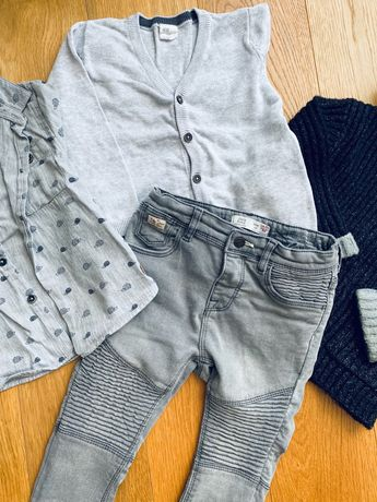 Кофта, джинсы, рубашка на мальчика на 18-24 мес от zara, h&m