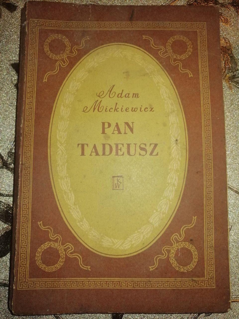 Adam Mickiewicz Pan Tadeusz ostatni zjazd na Litwie książka z 1952 r.