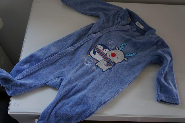 Pepco kombinezon pajacyk dla dziecka 62 piżamka zimowa dla niemowlaka