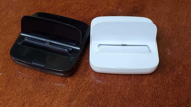 2 док-станции Samsung для мобильных с Micro-USB, черная и белая